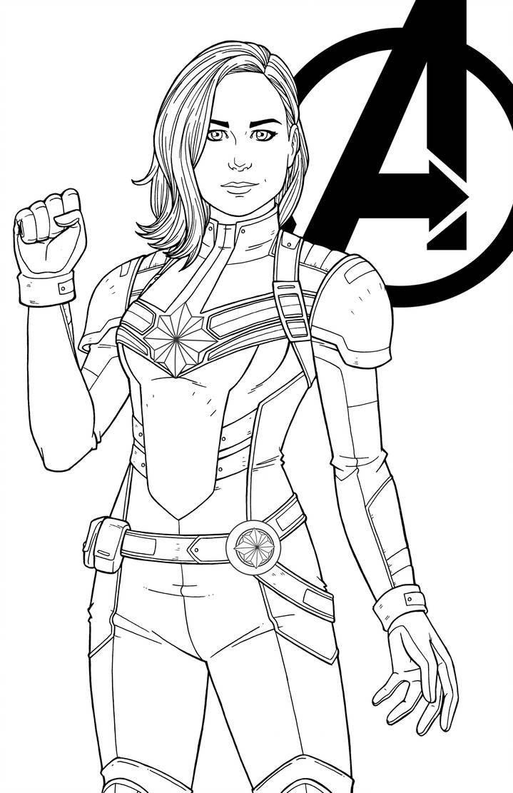 Раскраска Капитан Марвел 2