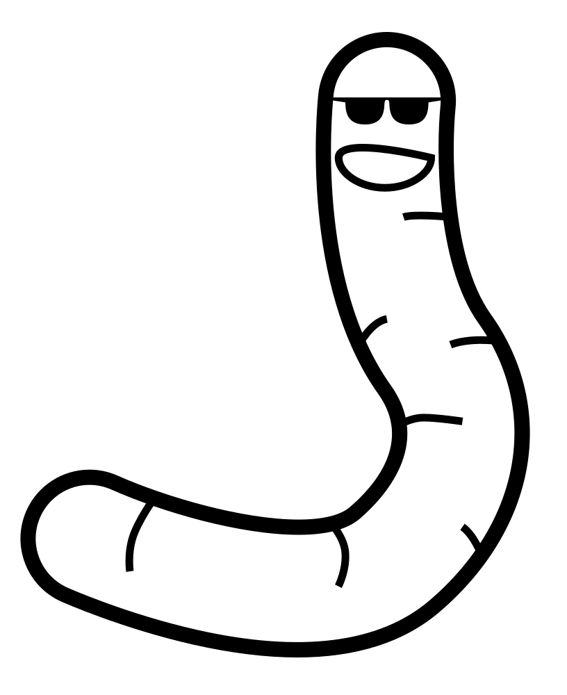 Раскраска Крутой червь