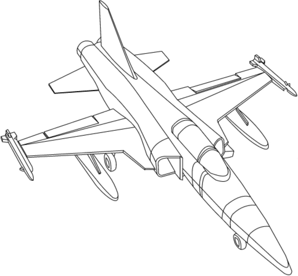 Раскраска Боевые самолеты