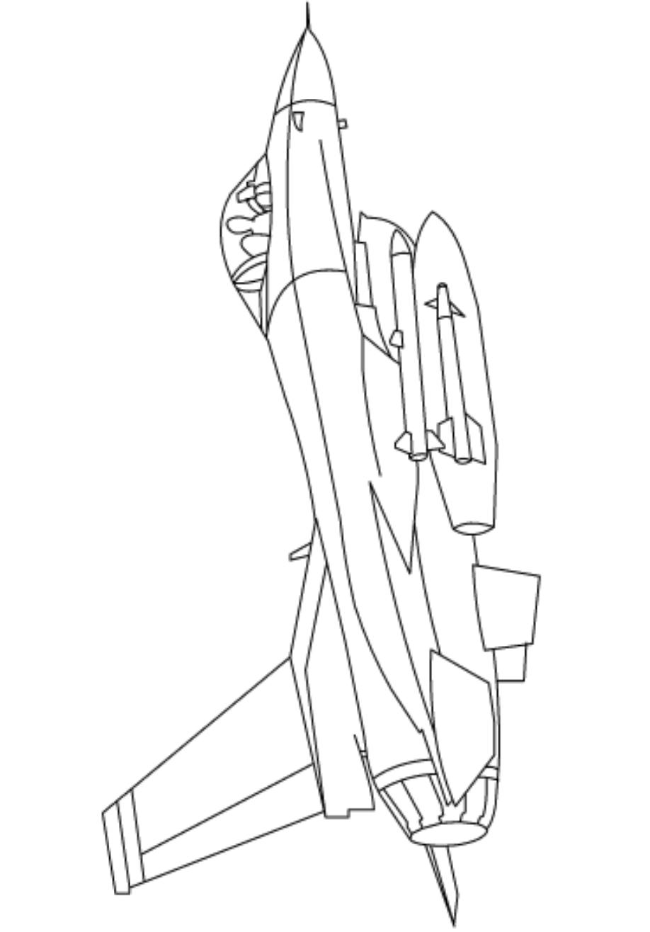 Раскраска Реактивный самолет