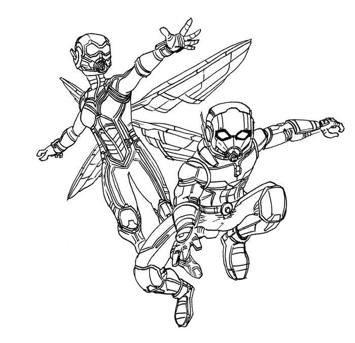 Раскраска Человек-муравей и Оса 2