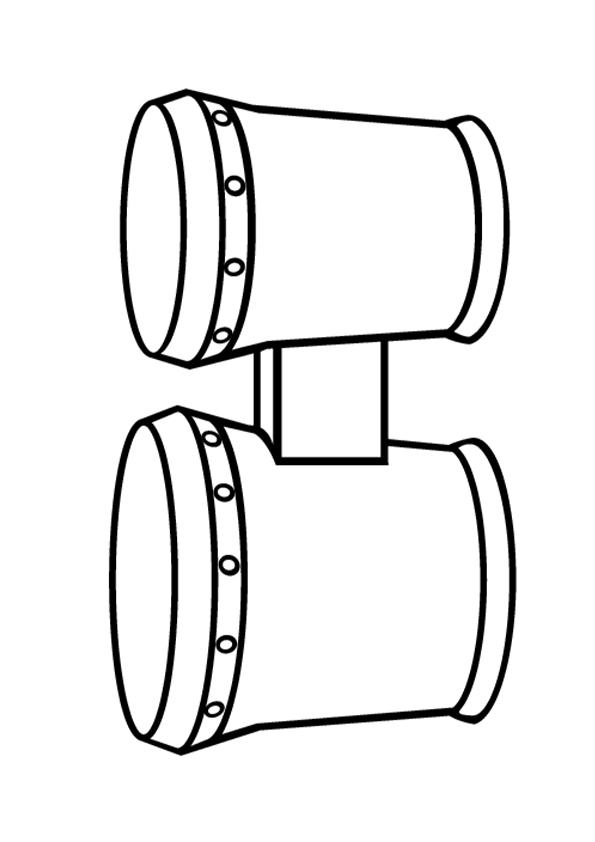 Раскраска Двойной барабан