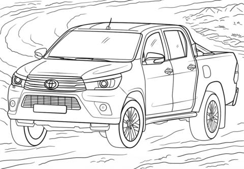 Раскраска автомобиль Toyota