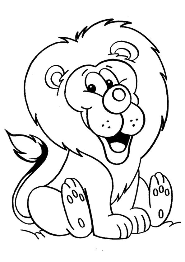 Раскраска лев 2