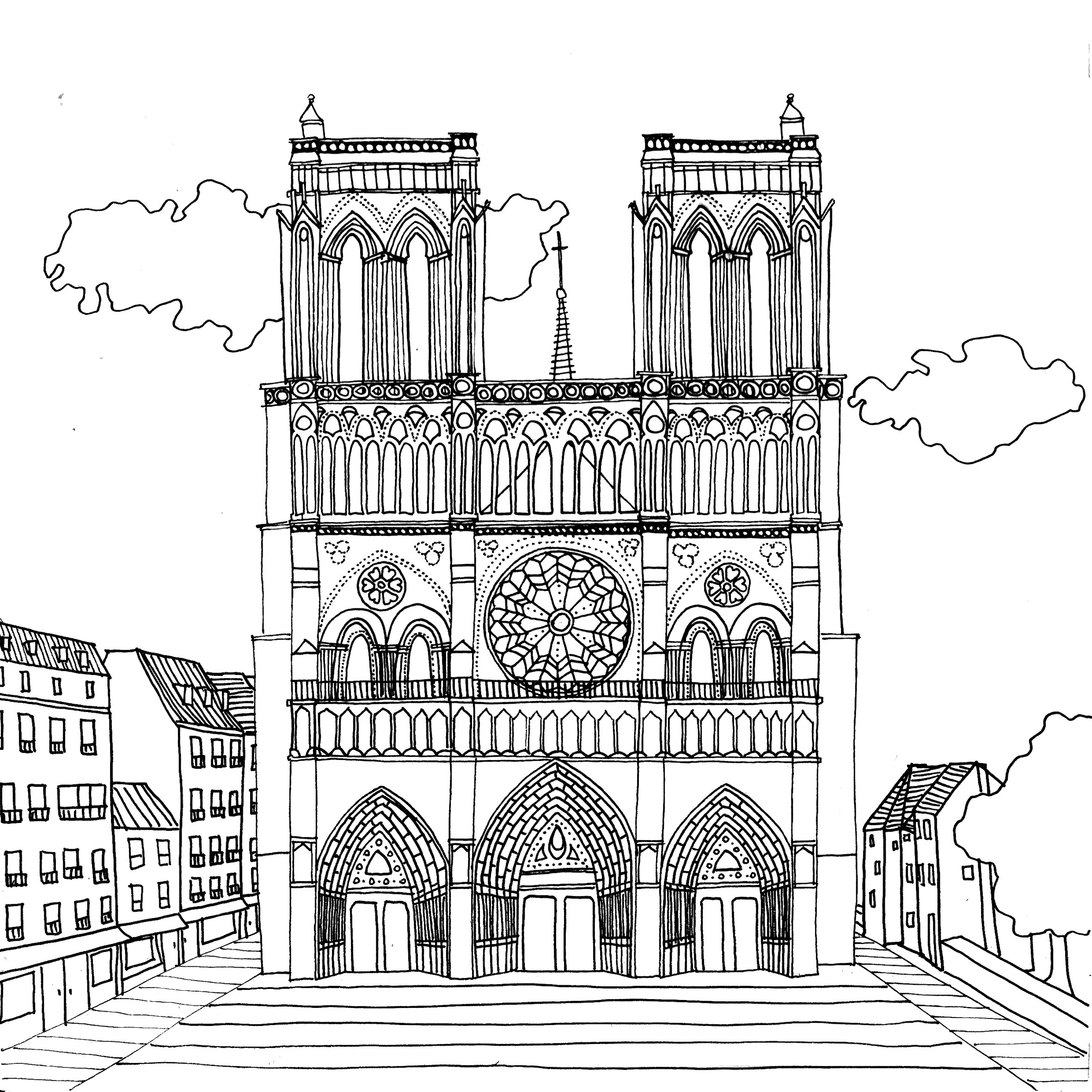 Раскраска Раскраски Франция