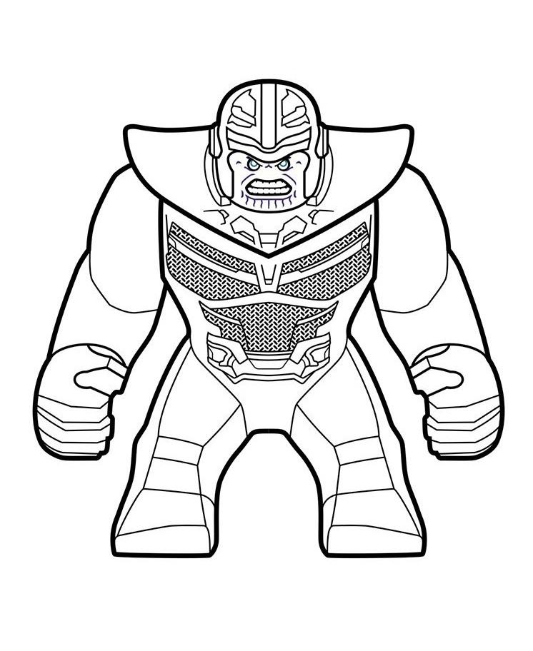 Раскраска лего танос
