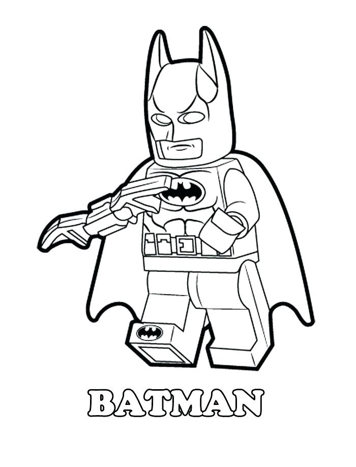 Раскраска лего бэтмен