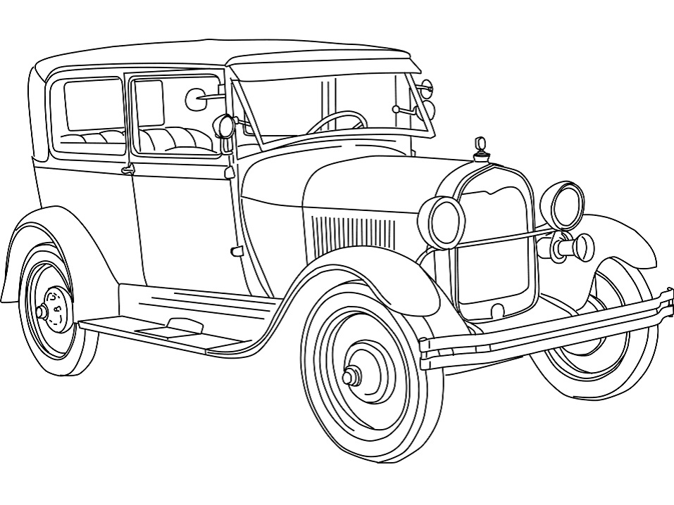 Раскраска Ford Model A (1928)