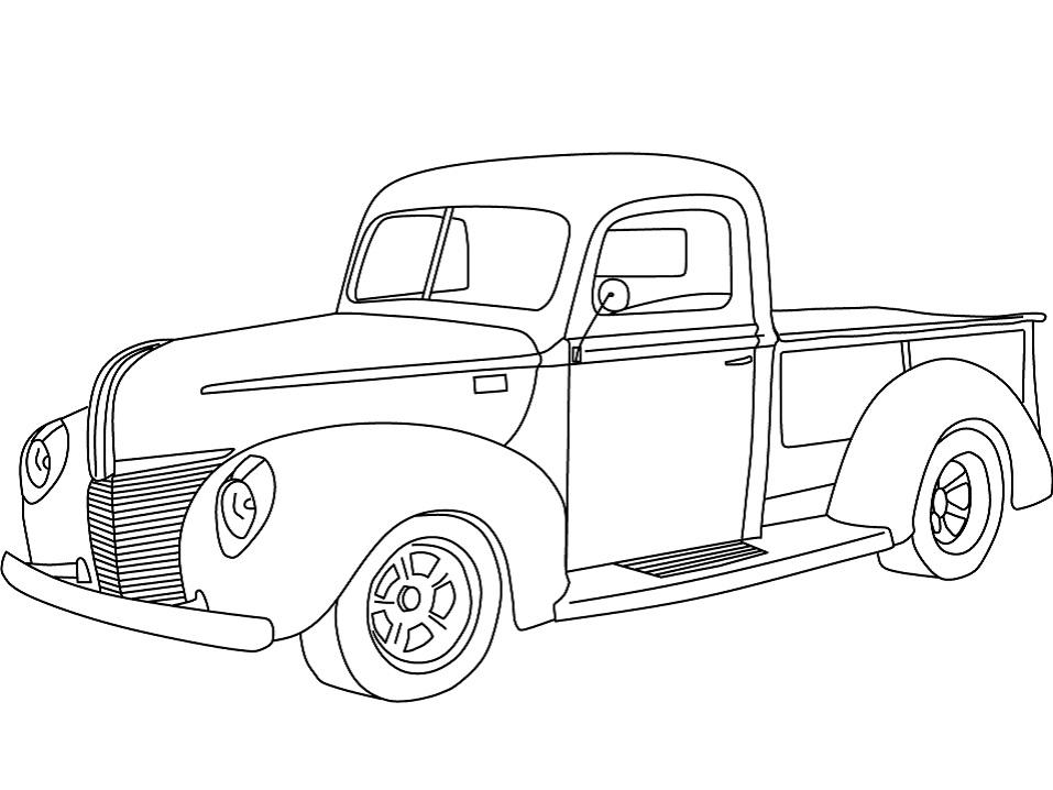 Раскраска 1940 Ford Пикап