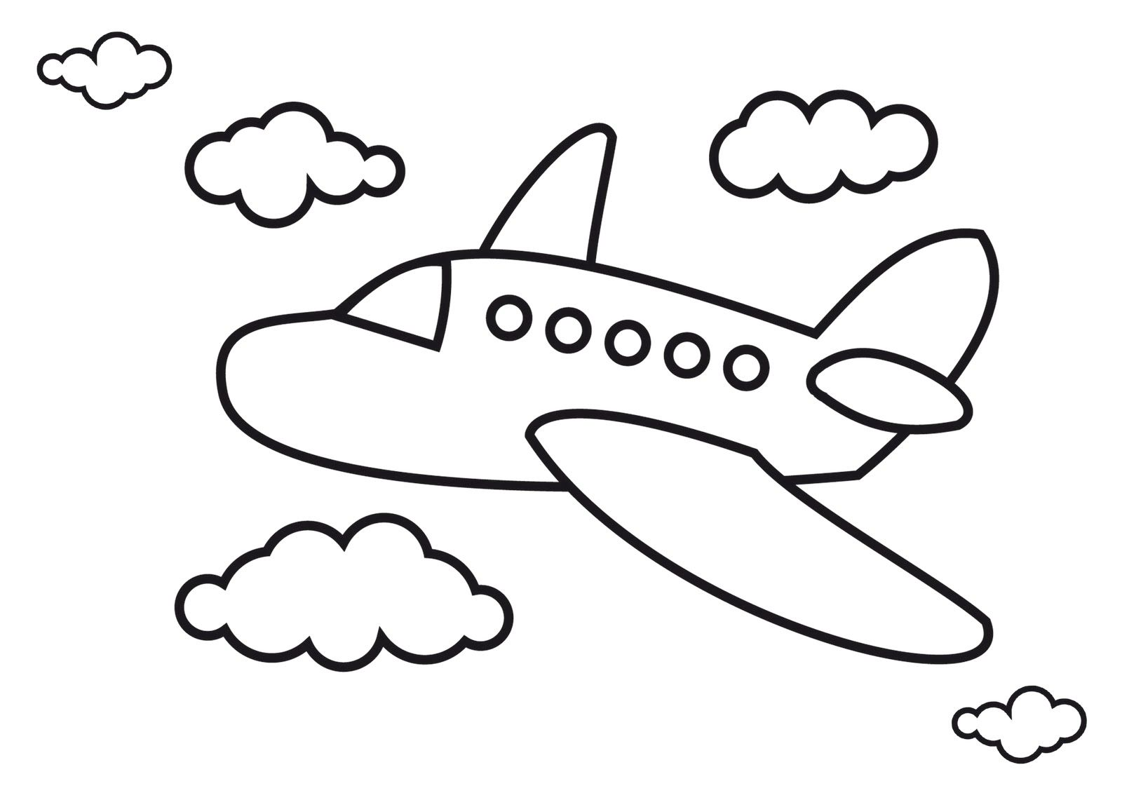 Раскраска полет самолета