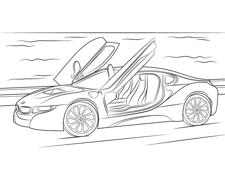 Раскраска BMW i8 2015