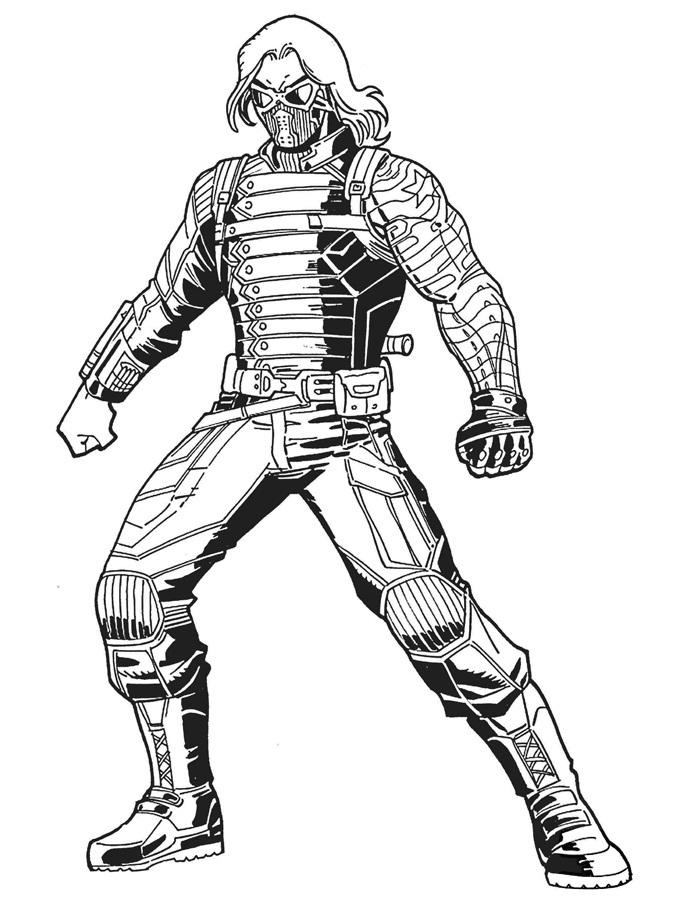 Раскраска Зимний солдат 2