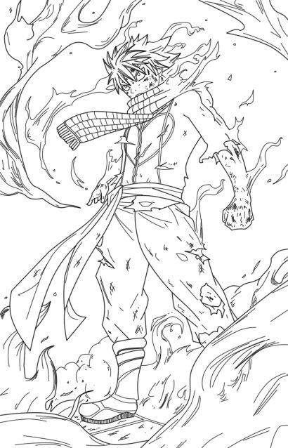 Раскраска Злой Нацу