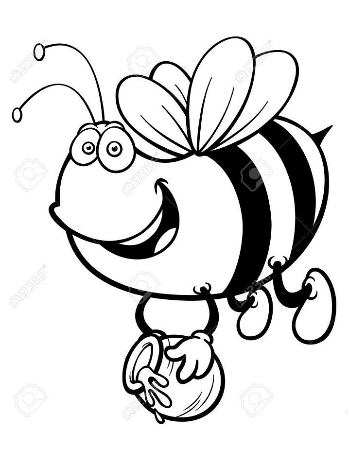 Раскраска Раскраски пчела