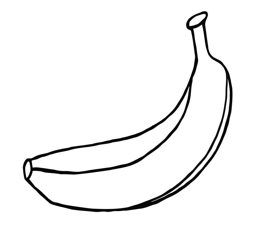 Раскраска Раскраски Банан