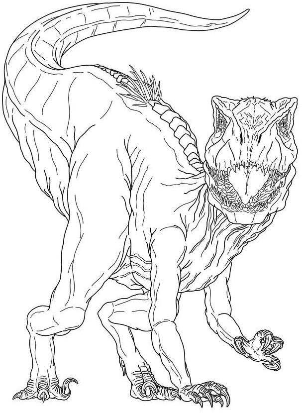 Раскраска Индораптор динозавр
