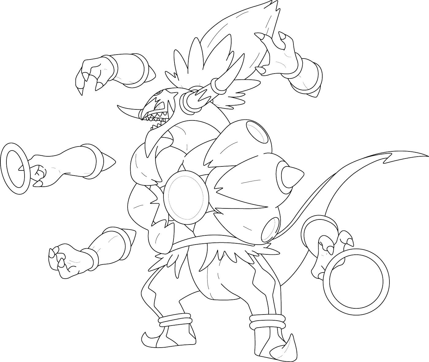 Розмальовка Покемон Хупа