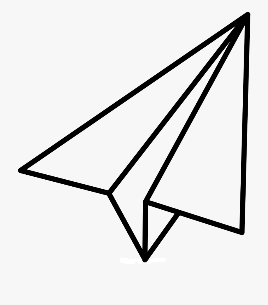 Раскраска бумажный самолетик