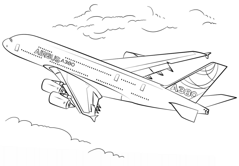 Раскраска аэробус A380
