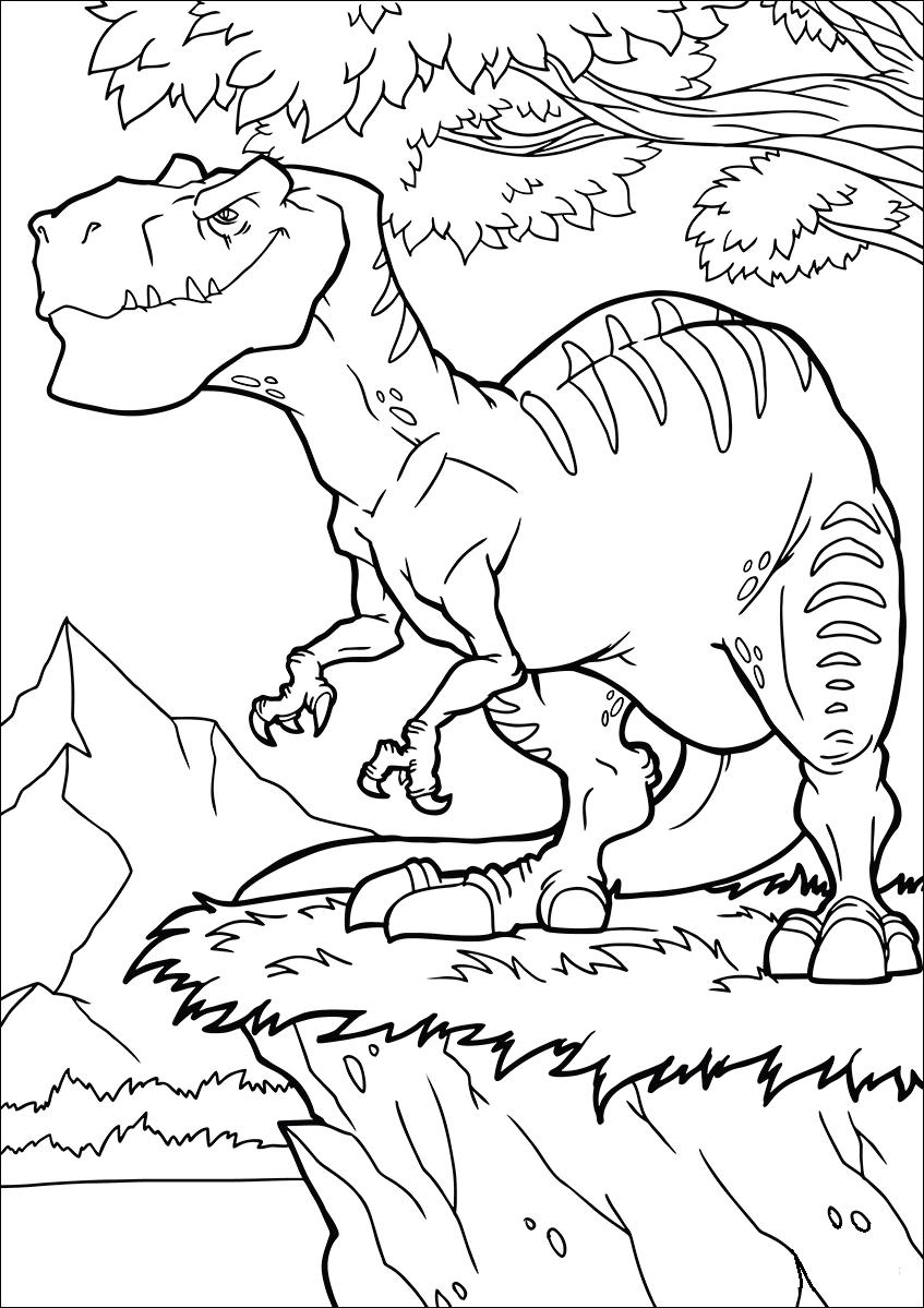 Раскраска Аллозавры