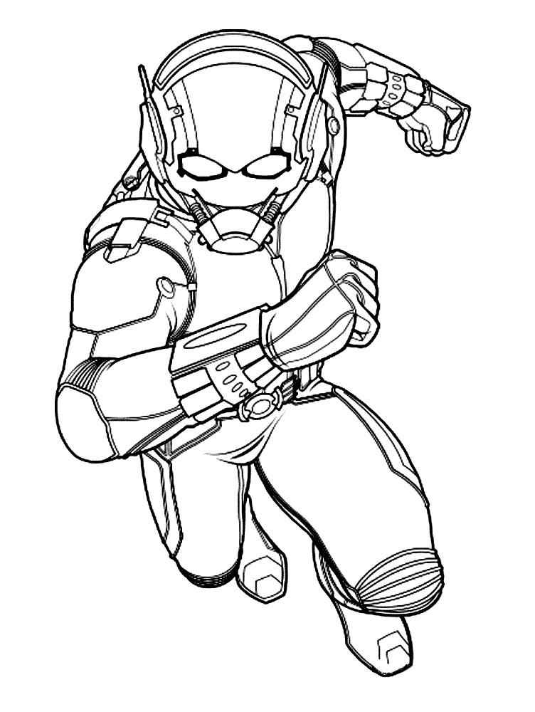Раскраска Человек-муравей 2