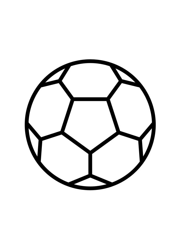 Раскраска футбольный мяч