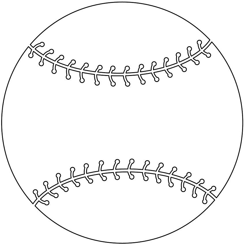Раскраска Бейсбольный мяч