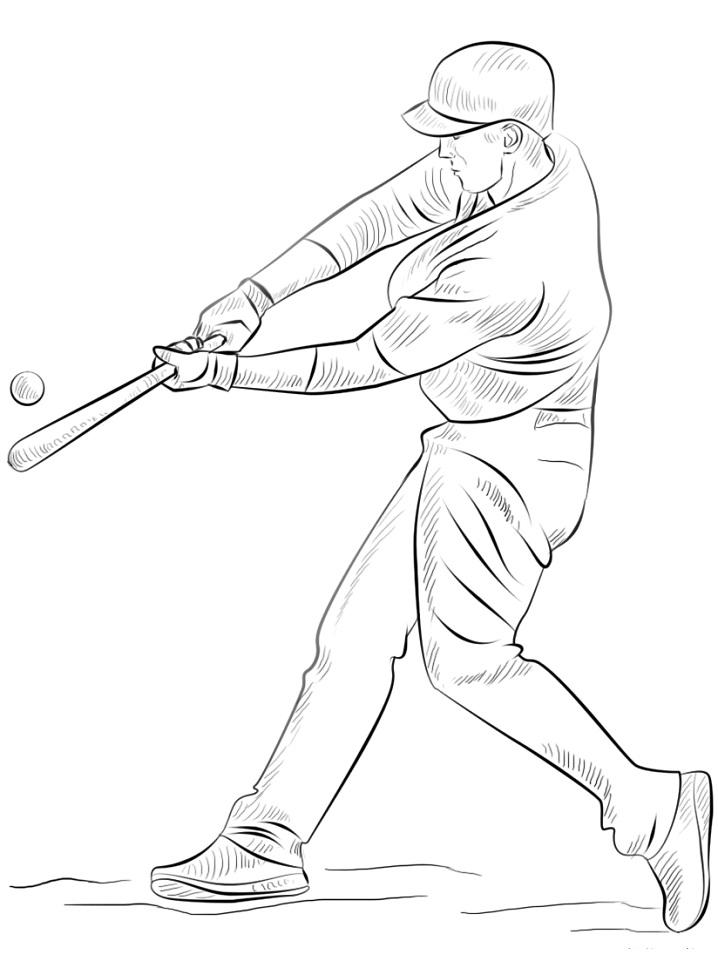 Раскраска Бейсболист