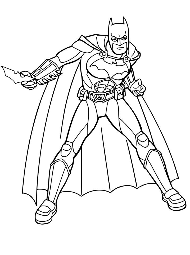 Раскраска Бэтмен и Бэтаранг 2
