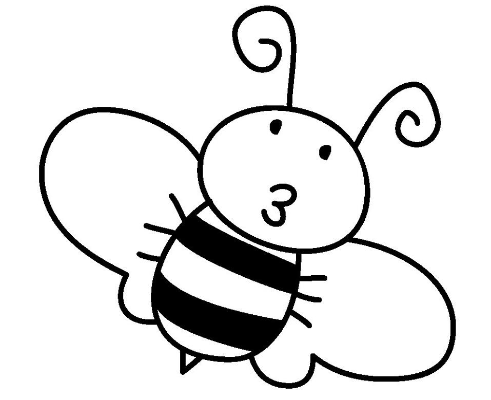 Раскраска милая пчела