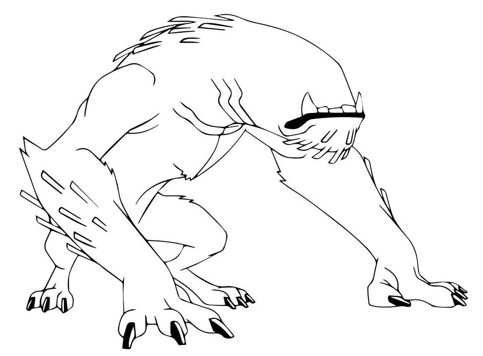 Раскраска Инопланетный пес