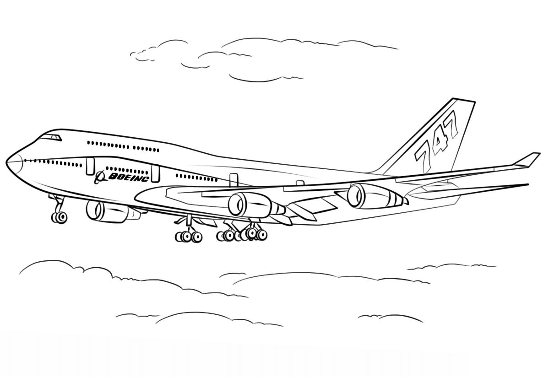 Раскраска Боинг 747-400