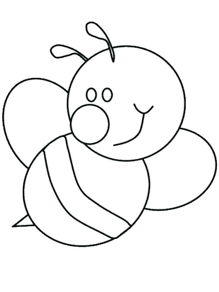 Раскраска пчела с большим носом