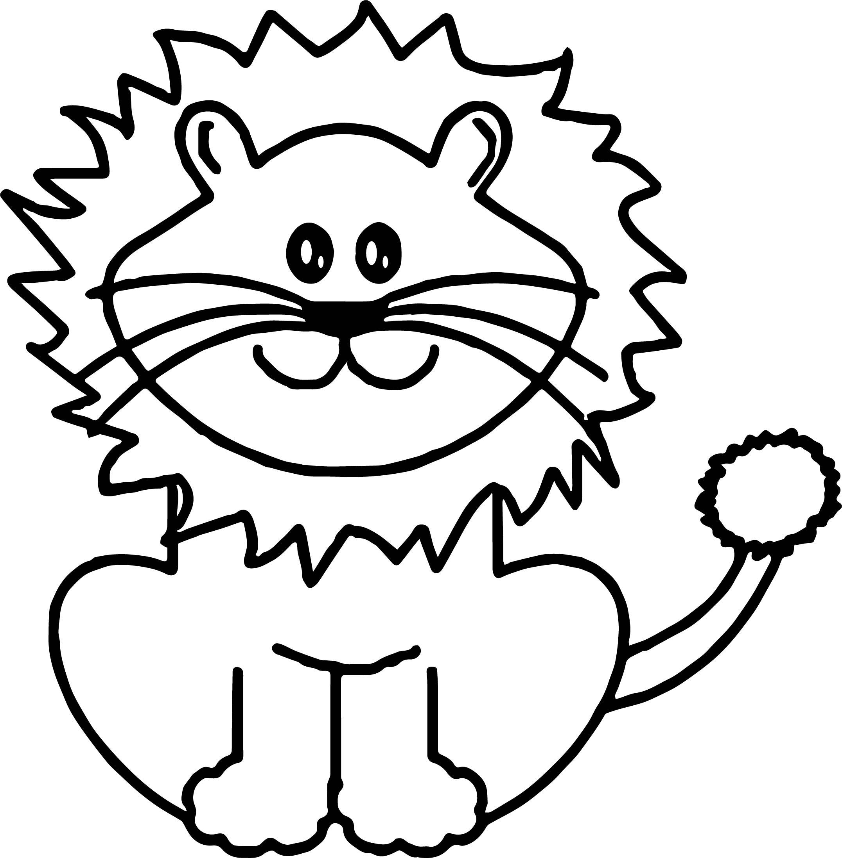 Раскраска уродливый лев