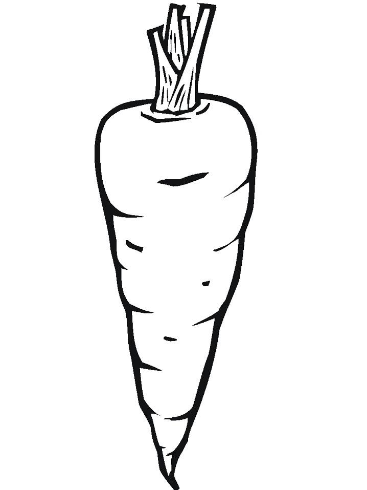 Раскраска Морковь 2
