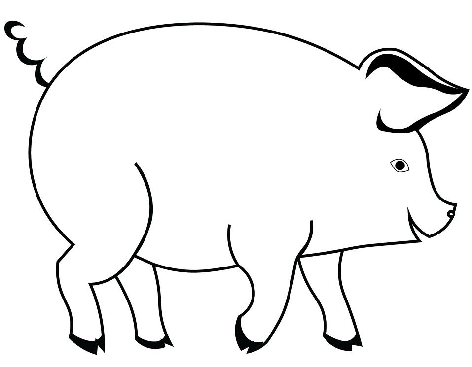 Раскраска Свинка 1