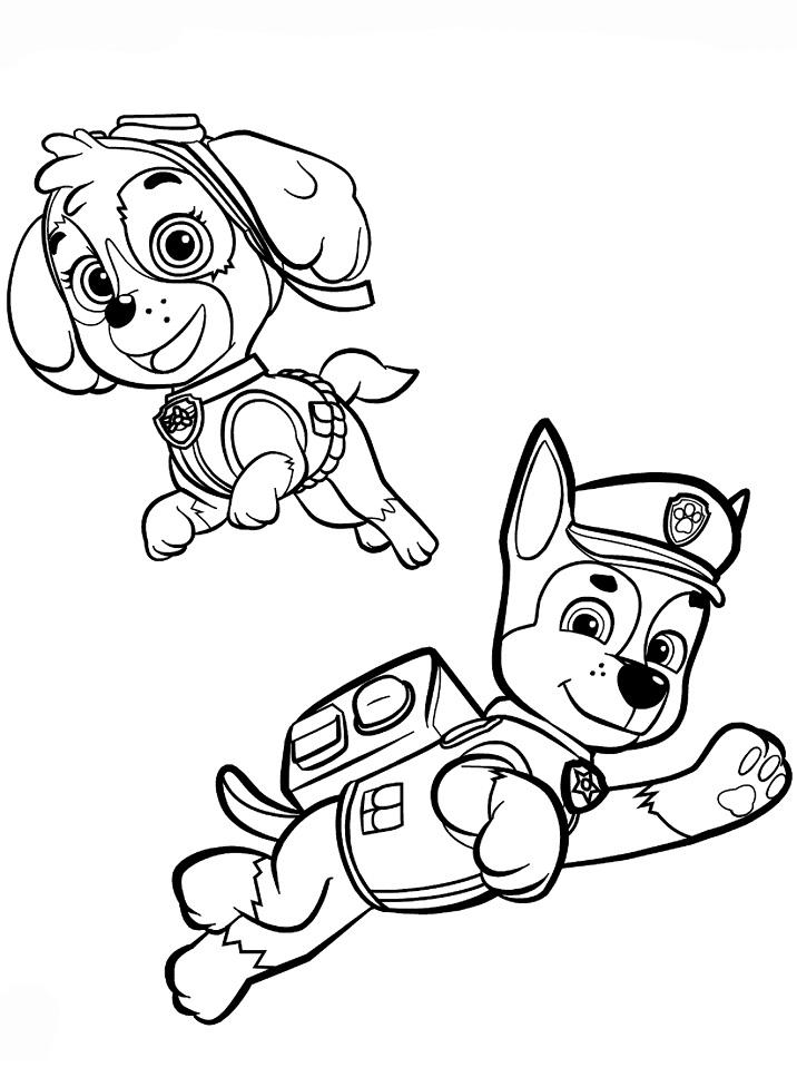 Раскраска Раскраски Щенячий патруль