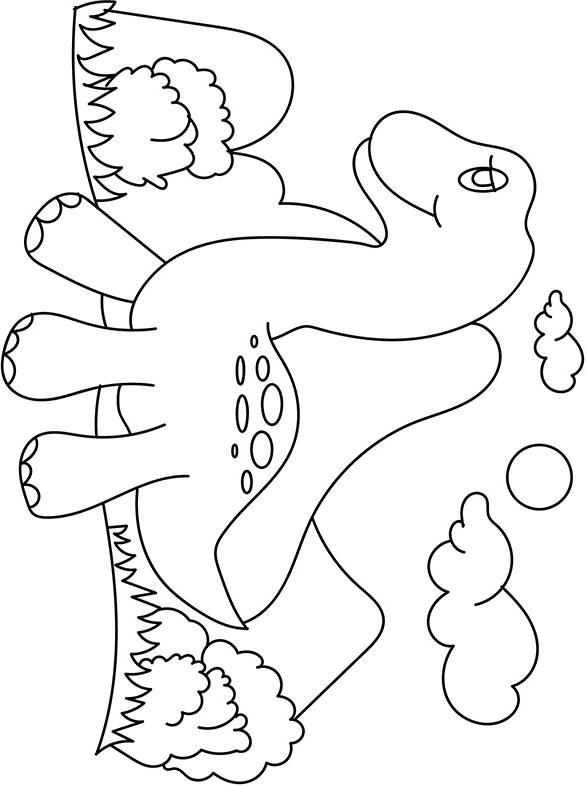 Раскраска Детские динозавр