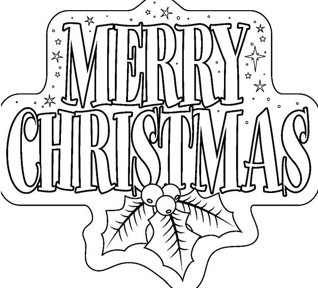 Раскраска Счастливого Рождества