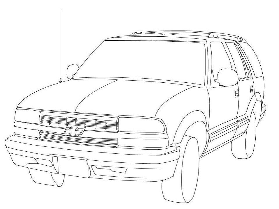 Раскраска Chevrolet Blazer
