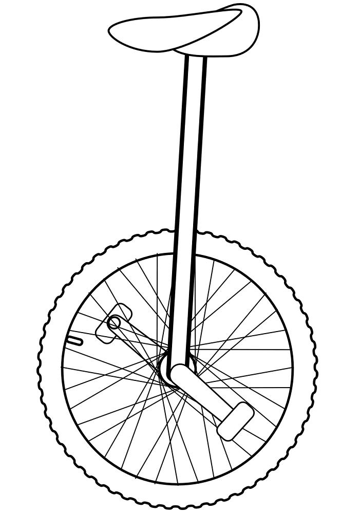 Раскраска Моноцикл