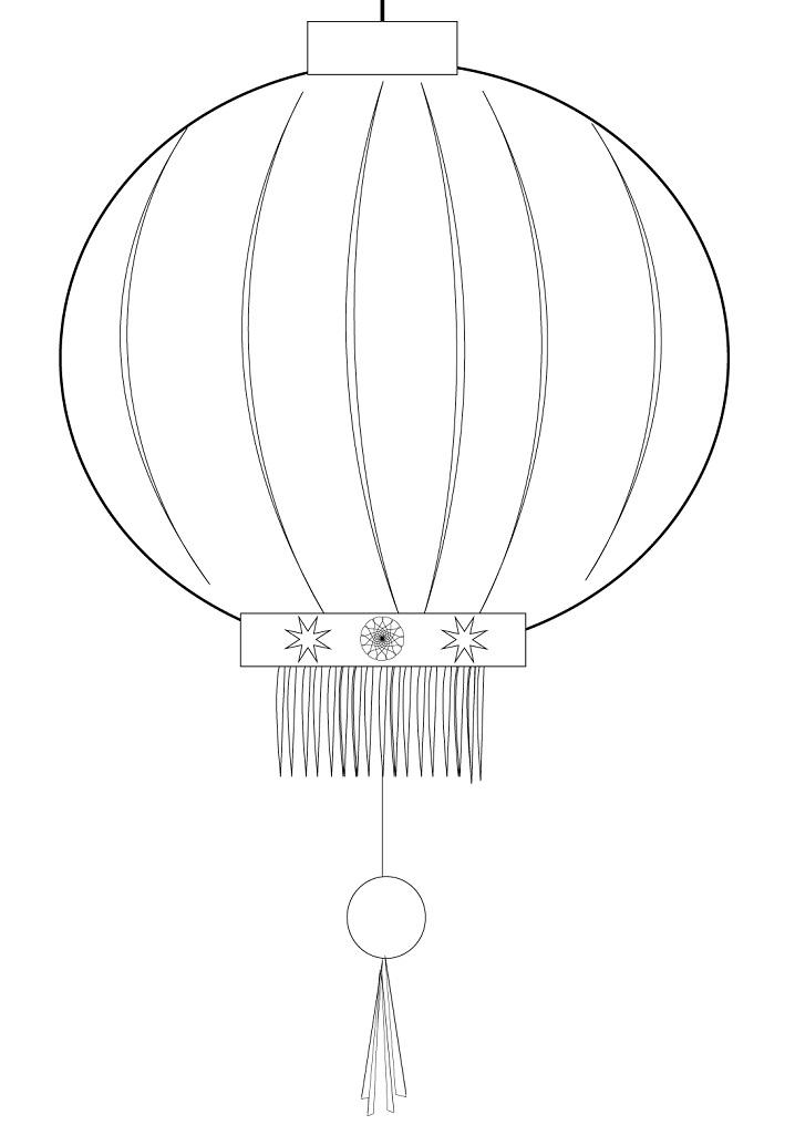 Раскраска Китайский фонарь