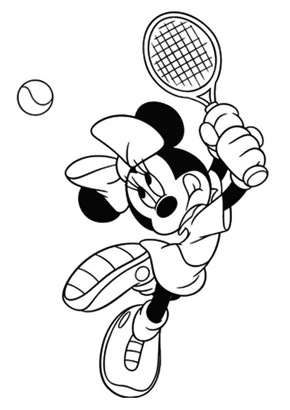 Раскраска Раскраски Теннис