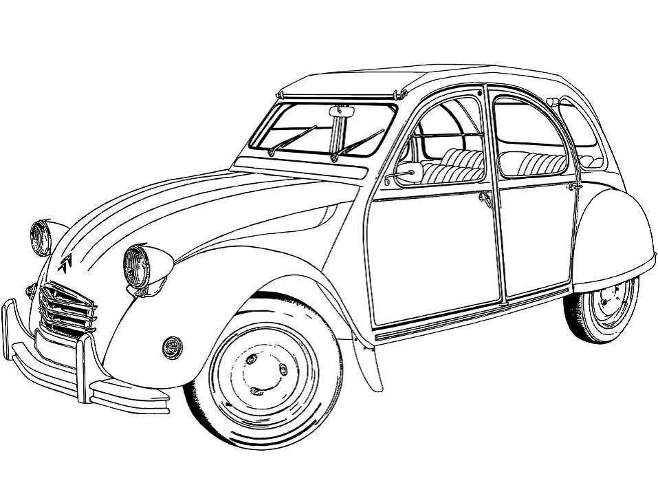 Раскраска Citroën 2 CV