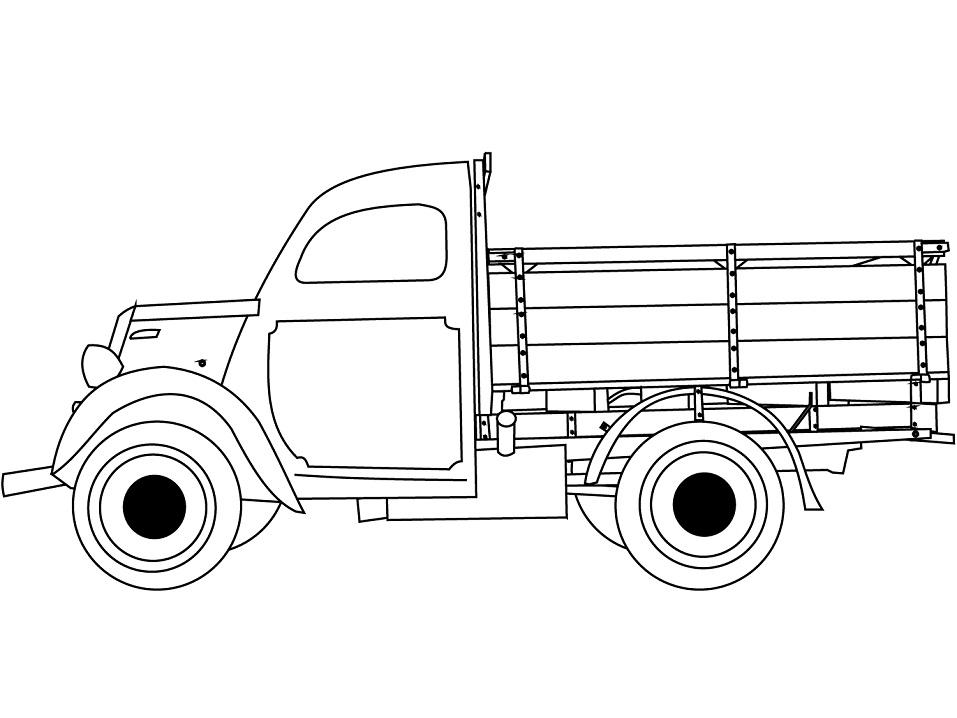 Раскраска Классический грузовик