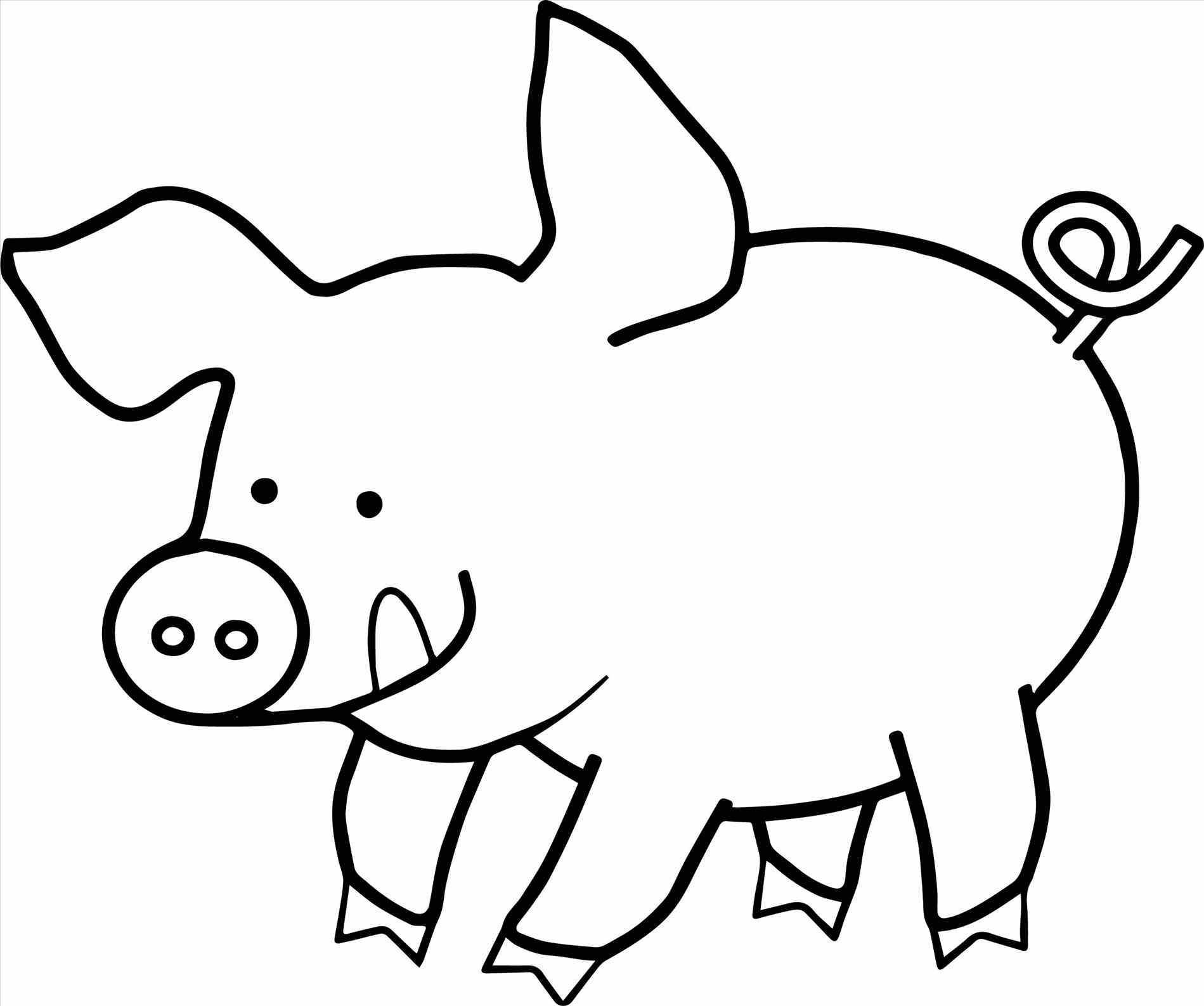 Раскраска свиная улыбка