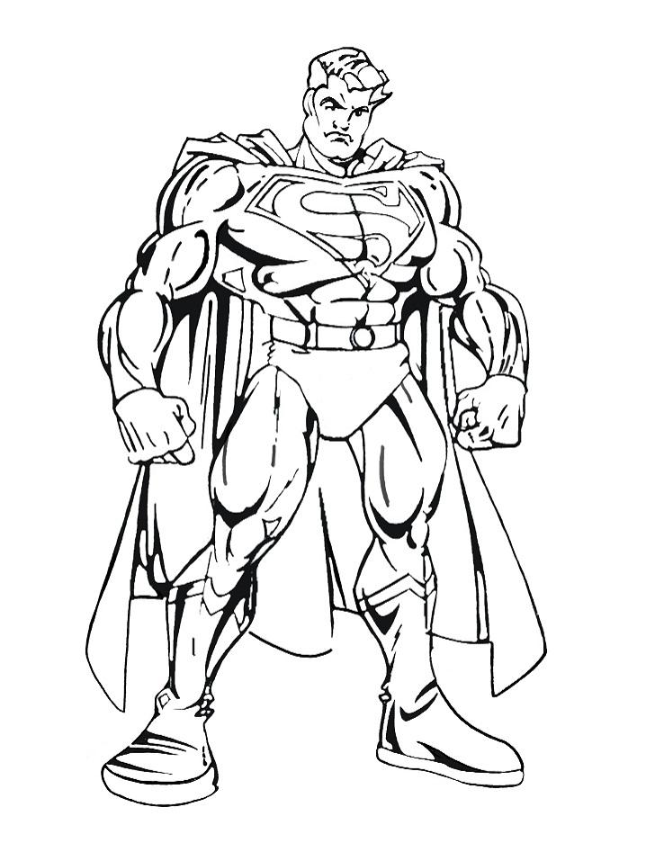 Раскраска супермен мышцы