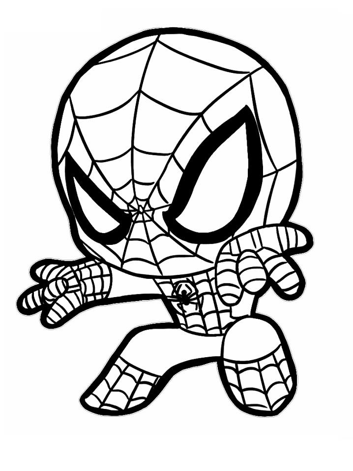 Раскраска маленький человек-паук 3