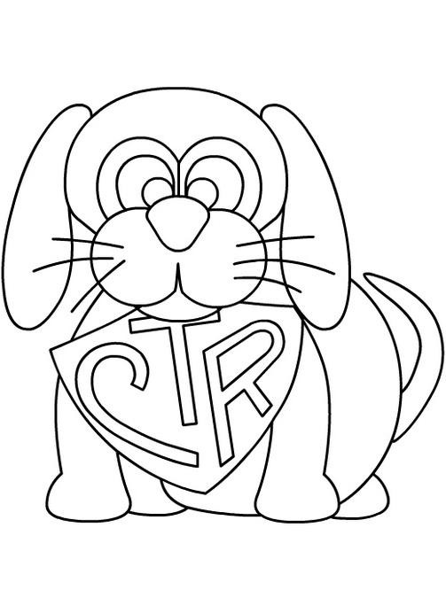 Раскраска Cобака со щитом CTR