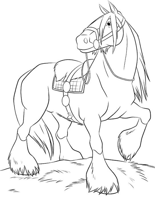 Раскраска Шайр лошадь